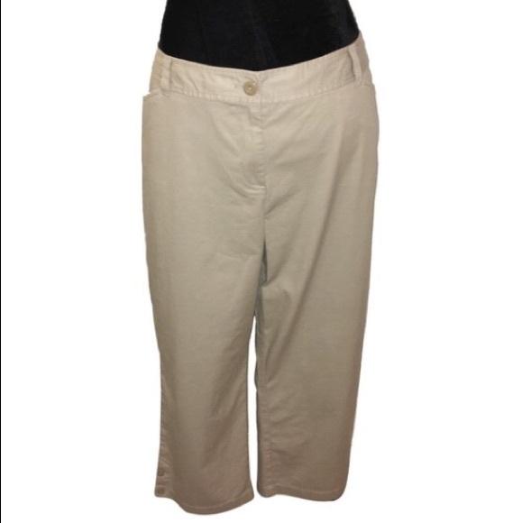 09d939d1044 Ann Taylor Plus Cropped Khaki Pants NWT CURVY